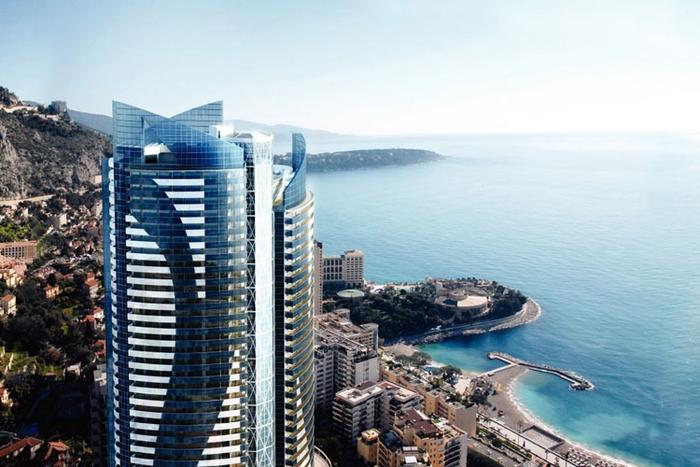 Фото высотное здание Tour Odeon, Монте-Карло, Монако