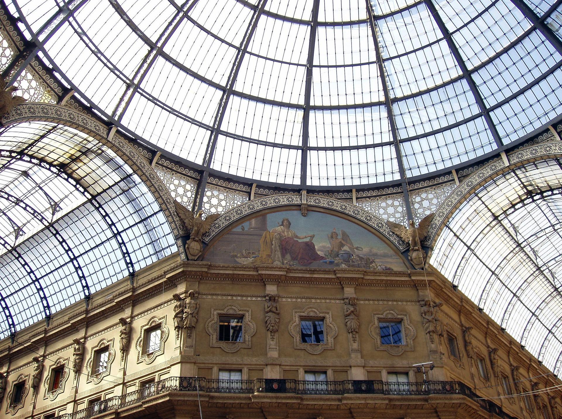 Галерея Виктора Эммануила II (Galleria Vittorio Emanuele II) в Милане